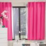 Cortinas Cortas Frambuesa Rosa 1.18x1.80 Vianney Vianey Hm4
