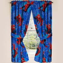 Par De Cortinas Hombre Araña Spiderman Marvel