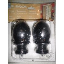 Par De Terminales Levolor Mod. Piñón Color Negro P/3.49 Cm