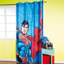 Cortina Con Ojillos Para Recamara Superman Para Niños