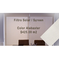 Persiana Enrrollable Screnn Filtro Solar Alabaster M2hwo
