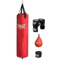Kit De Costal De 70 Lb Everlast Rojo Polycanvas