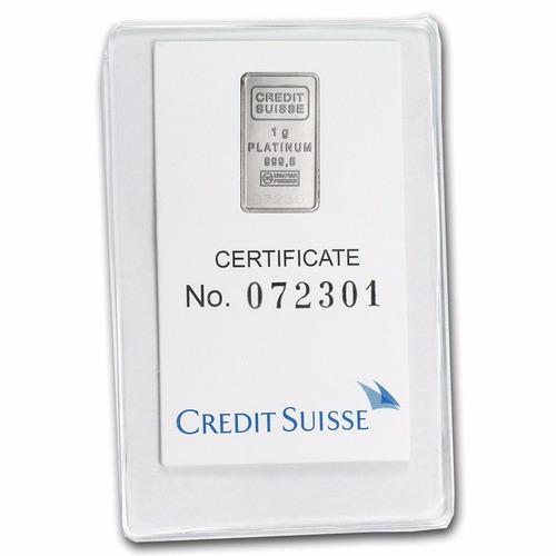 Crédito Suizo 1 Gramo Platino Puro 999.5 Con Certificado
