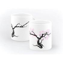 Taza Térmica Con Diseño Coreano Árbol Con Flores Nueva
