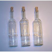 Botella De Vidrio Licorera Lisa