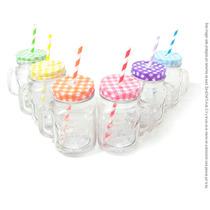 Conjunto Tarros Mason Jar/colores Original 500ml