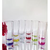 Vasos Tequileros Con Fondo De Color