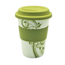 Vaso Ceramica Decorado Verde Good And Good