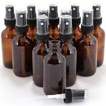 12 Nueva Alta Calidad 1 Oz Botellas De Vidrio Ámbar Con Negr