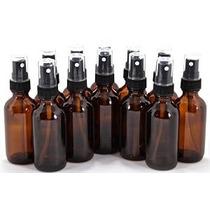 12 Nueva Alta Calidad 2 Oz Botellas De Vidrio Ámbar Con Negr