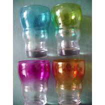 4 Vasos De Vidrio Marca Crisa