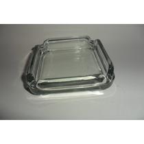 Cenicero Cuadrado Liso De Cristal Caja De 100 Piezas