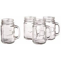 Mason Jar Juego De Tarros De Cristal Para Bebidas