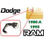 80-93 Dodge Pick Up Ram Seguro Para Aleta Vidrio Derecho