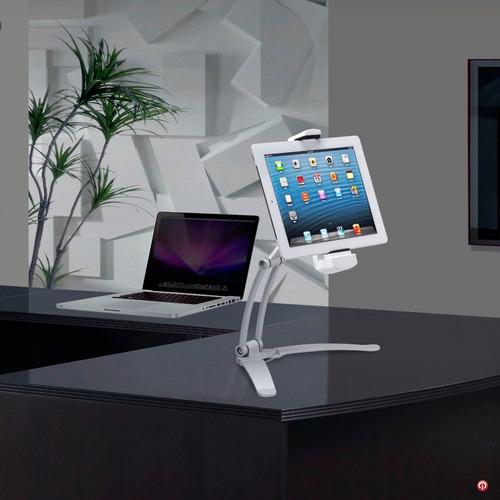 Cta soporte base aluminio pared mesa escritorio tablet - Soporte tablet mesa ...