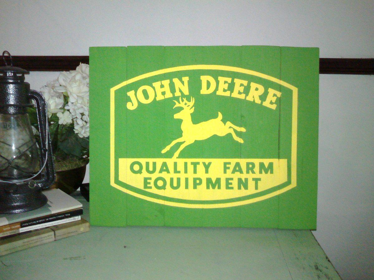 Anuncio Antiguo John Deere Madera Rustico  $ 45000 en MercadoLibre