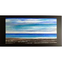 Pintura Acrilica Sobre Tela Ocean 120x60x4cm