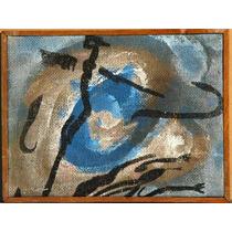Carlos Rodal Pintura Acrilico Lagartija Y Remolino Azul 1992