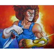 Pintura En Acrilico, Leono, Thundercats, Arte Original.