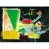 Gustavo Ramos Rivera Acrilico Pintura Abstracta C 1989