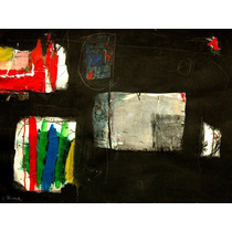 Gustavo Ramos Rivera Acrilico & Collage Silencio Abstracto