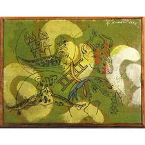 Carlos Rodal Pintura Acrilico Toro Y Torres 1992