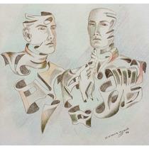 Jorge De La Fuente Dibujo Conjugacion 1988 Siqueiros