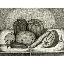 Ernesto Valdes Dibujo Bodegon Con Zanahoria 2006