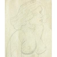 Caracalfa Dibujo A Lapiz Desnudo Femenino Diciembre 1967