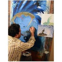 Obras De Arte Acuarela Sobre Papel Maestro Eusebio