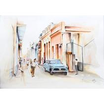 Acuarela - La Habana 70x55 Cmts