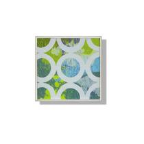 Cuadro Decorativo Abstracto Verde Y Azul - Bodega De Muebles