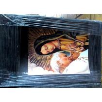 Cuadro Virgen De Guadalupe, Papa Juan Pablo Y Cristo Madera