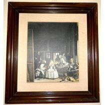 Oleografía De Las Meninas - Diego Velázquez - Enmarcada