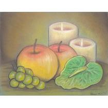 Pintura Original. Manzanas Maduras. Gis Pastel.