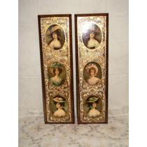 Cuadros Antiguos Florentine Italianos De Mujeres Victorianas