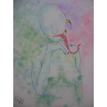 Dibujo A Mano Alzada Mujer