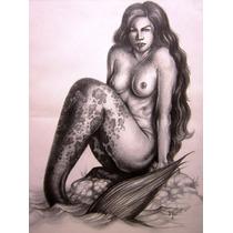 Dibujo A Lapiz, Arte Fantastico, Arte Original, Idd