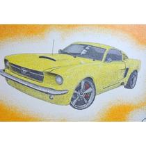 Cuadro De Puntillismo Mustang