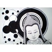 Mandala Atisha - Dibujo Original, Budismo, Buda