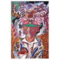 Janitzio Escalera Joven Con Sombrero Óleo/tela 120x80cm Arte