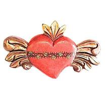 Sagrado Corazón Con Alas De Angel (dorado)