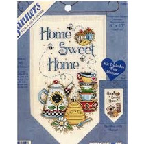 Kit Punto De Cruz Estandarte Home Sweet Home 22x 32 Cm