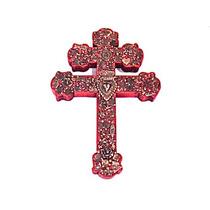 Cruz Agustina Con Milagros (madera)