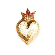 Sagrado Corazón Con Hoja De Oro