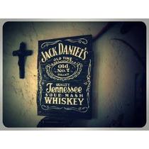 Letrero Anuncio Vintage Madera Tipo Antiguo Whisky Tequila