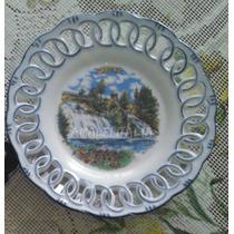 Plato Decorativo Recuerdo Belgica Souvenir Cascada Coo