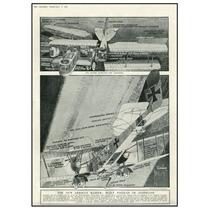 Diagrama Bombardero Alemán Zeppelin Febrero 1918 70 X 51 Cm
