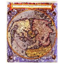 Mapa Hemisferio Norte Año 1593 62 X 50 Cm
