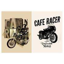 Poster Clásico Motocicletas Café Racer 3 Medidas 42 X 62 Cm